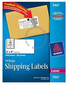 avery labels 5163