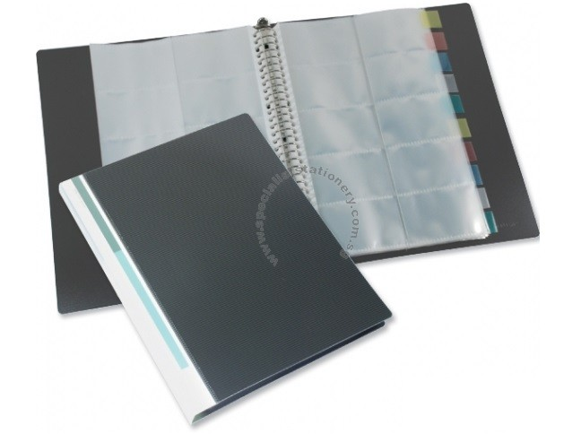 Specialist stationery singapore wholesale stationery supplier bindermax name card holder for 500 cards reheart Images